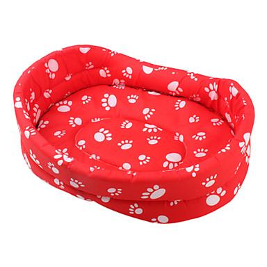 cama para perros de huellas