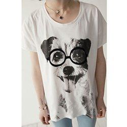 camiseta de perro para mujer
