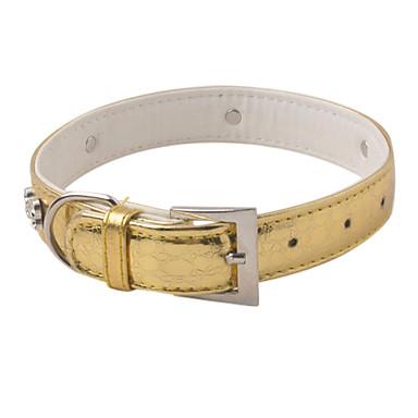 collar dorado para perro