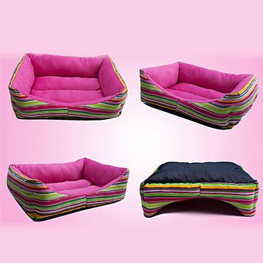 cama para perros a rayas