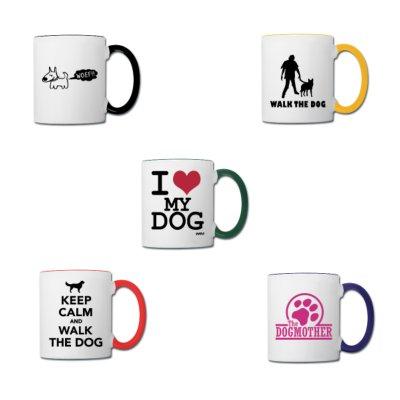 tazas sobre perros