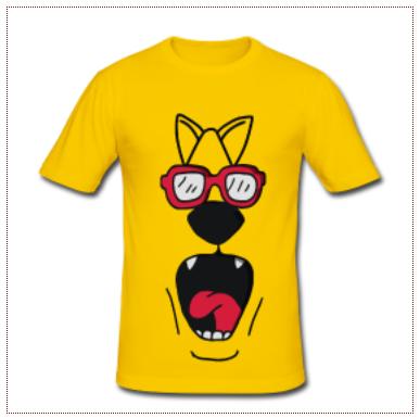 camisetas sobre perros