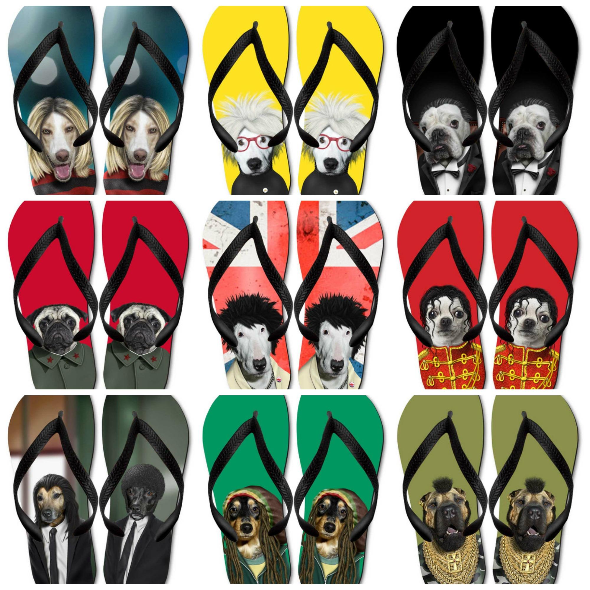 hawaianas, chanclas, flip-flops con perros