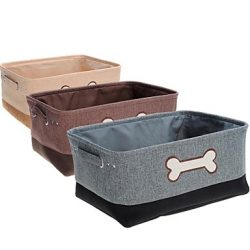 cesta para guardar juguetes de perro