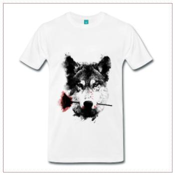 camiseta wolf lover