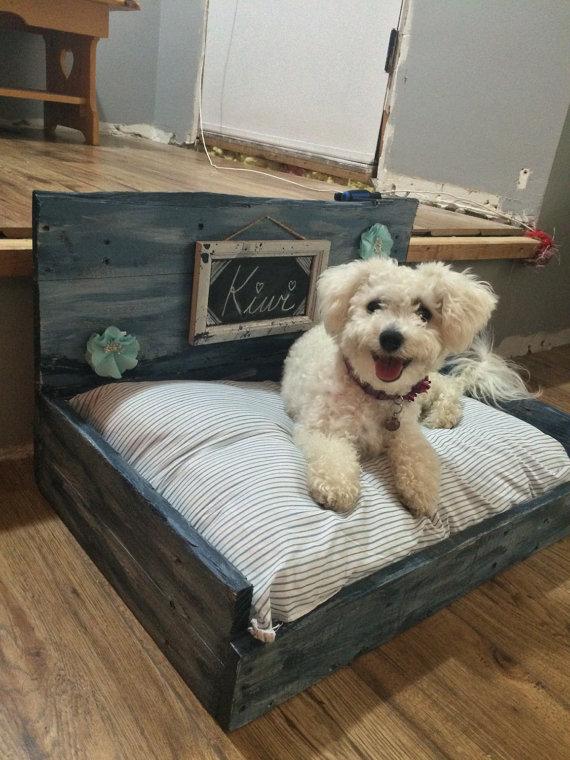 preciosa cama de palets para perros divine chien