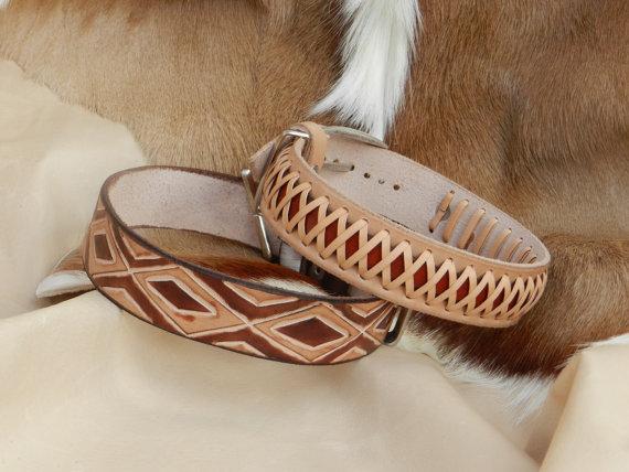collar de piel para perro
