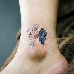 tattoos sobre perros a color