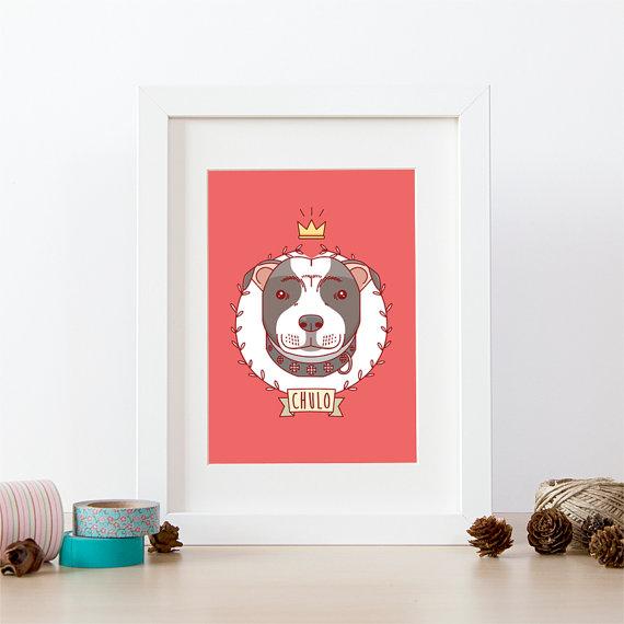 retrato para perro