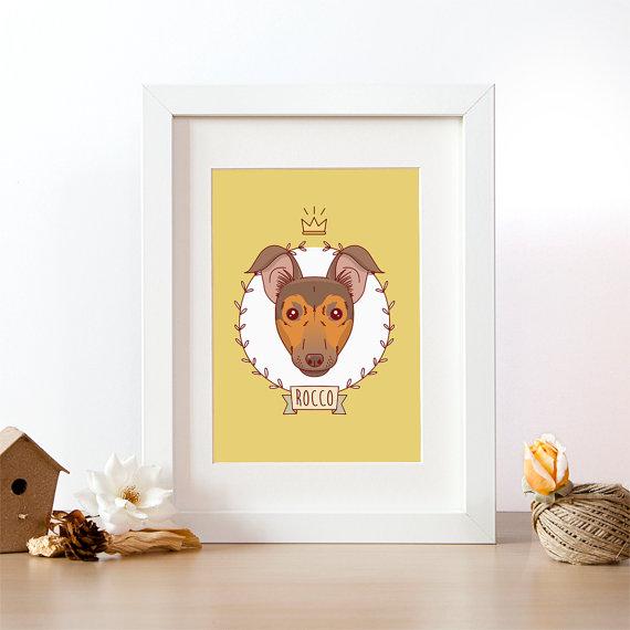 retrato para perros
