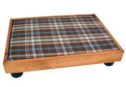 cama para perro de madera