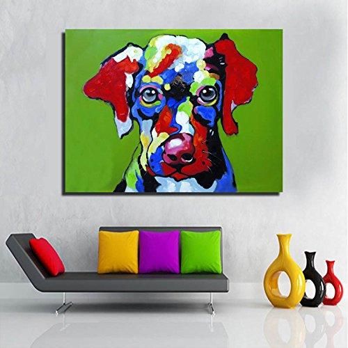 cuadro de perro de colores